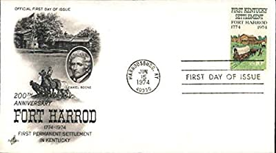 100th Anniversary Fort Harrod 1774-1974 First Permanent Settlement in Kentucky Original First Day Cover