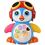 Aipa Baby Musical Penguin Toys EQ& Intelligence Training , Battery Operated with Swing ,Walking , Light, Voice Answers,Best Toys for Babies.