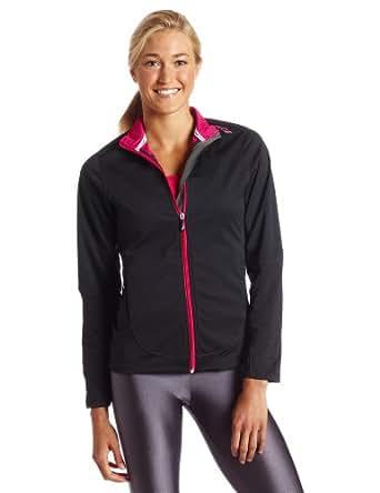 Saucony Women's Nomad Jacket (Black/Pink Aura, X-Large)