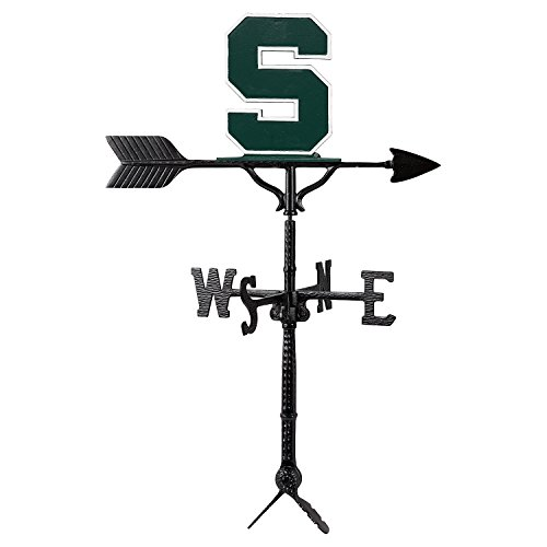 Montague Metal Products Michigan State Block S Logo Weathervane Natural Color