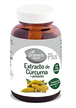 EXTRACTO DE CURCUMA+PIMIENTA 430 mg 60 Vcaps: Amazon.es: Salud y cuidado personal