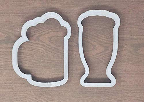 - Beer Cookie Cutter - American Confections - Beer mug, St. Patricks Day, Football - Set of 2 - MADE IN THE USA