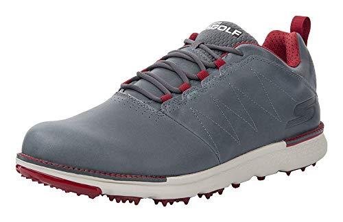 Skechers Men's Go Elite 3 LX Wide Golf Shoe,charcoal/red,10.5 W US (Best Max Width For Responsive Design)
