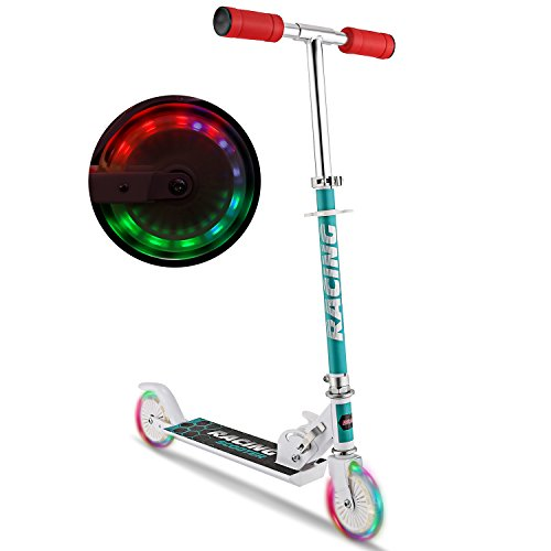 WeSkate Scooter for kids with LED Light Up Wheels, Adjustable Height Kick...