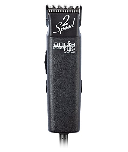 Andis ProClip AG2 2-Speed Detachable Blade Clipper, Professional Animal Grooming, AG-2,Black  (22215)