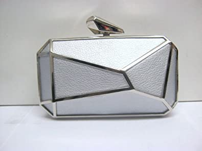 7e9bf96d1d Statement Geometric Abstract Deco Grecian Style Hard Case Box Clutch ...