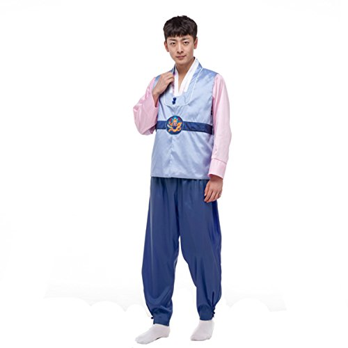 XINFU Mens Boys Korean Traditional Court Dress Costume Hanbok Cosplay Sets (Hanbok Costume)
