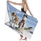HHHDAM Bath Towels Husky Siberiano Extra Large Oversized Beach Towel Pool Swim Towel for Adults Women Kids Travel