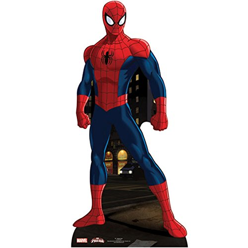 Star Cutouts SC906 Spiderman Star Mini Cardboard Cut -