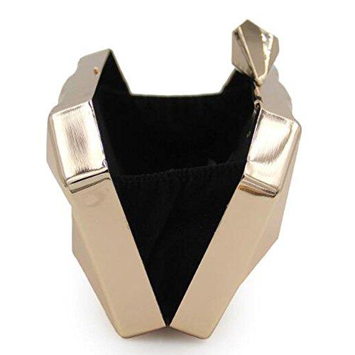 Gold Mode Bourse Soirée Embrayages Pochette Métal Embrayage Géométrique Femmes 8xpq05wRp