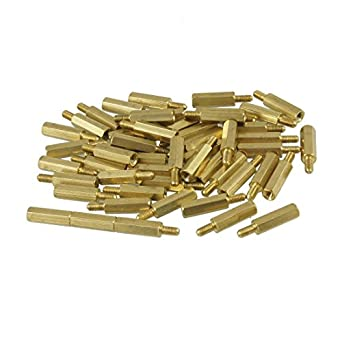 uxcell 50 Pcs Screw PCB Stand-off Spacer Hex M3 Male x M3 Female 15mm Length