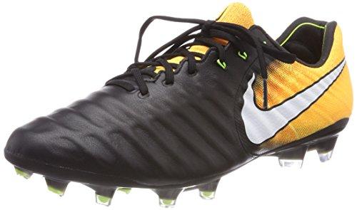 NIKE Tiempo Legend 7 VII FG 897752-008 Black/White/Laser Orange/Volt Mens Soccer Cleats Black/Laser Orange/Volt/White