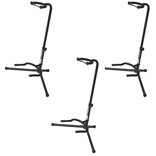 (On Stage XCG4 Velveteen Padded Tubular Guitar Stand - (3 Pack))