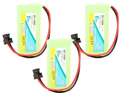 UpStart Battery 3x Pack - BT-1008 Battery for Uniden D178...