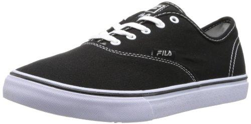 Fila de de zapatos clásica lona Black White la ww8qprxO