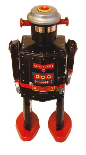 Chucklesnort Vintage Style Mechanical Wind-Up Tin Toy: M-65 Robot by Chucklesnort