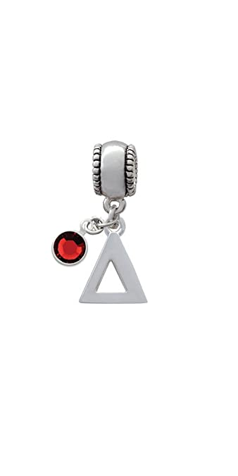 Amazon Com Silvertone Large Greek Letter Delta Charm Bead With