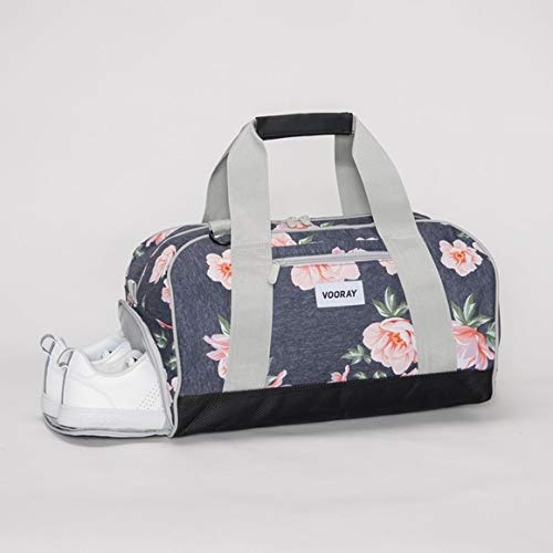 Vooray Burner 16 Compact Gym Bag with Shoe Pocket Snow Hex Camo