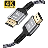 4K 60HZ HDMI Cable,Highwings 6.6FT/2M 18Gbps High Speed HDMI 2.0 Braided Cord-Supports (4K 60Hz HDR,Video 4K 2160p 1080p 3D HDCP 2.2 ARC-Compatible with Ethernet Monitor PS4/3 4K Fire Netflix