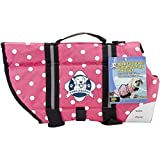 Cheap Paws Aboard Doggy Life Jacket Large Pink Polka Dot