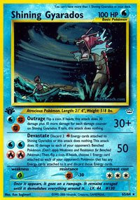 Pokemon - Shining Gyarados (65/64) - Neo Revelation - Holo