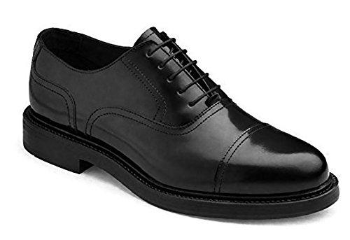 Soldini - Zapatos de cordones de Piel para hombre Negro negro