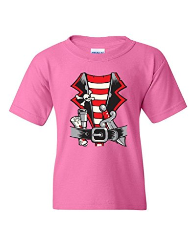 ARTIX Pirate Costume For Kids Fashion People Best Friend Gifts Halloween Birthday Party Costume Unisex Youth Kids T-Shirt Tee Clothing Youth Large Azalea Pink ()