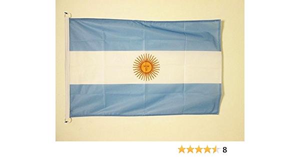 AZ FLAG Bandera Nautica de Argentina 45x30cm - Pabellón de conveniencia Argentina 30 x 45 cm Anillos: Amazon.es: Hogar