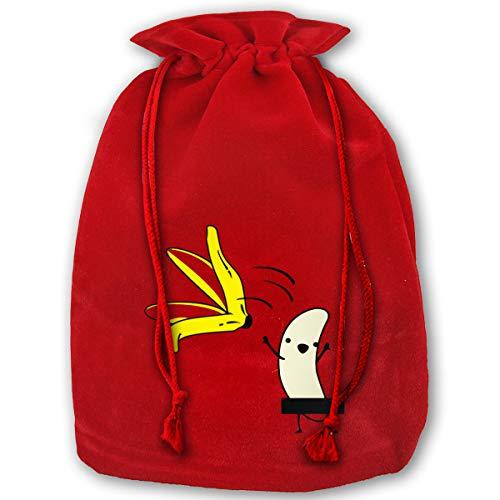 NYSOUVENIRS Bag Banana Striptease Merry Christmas Drawstring Beam
