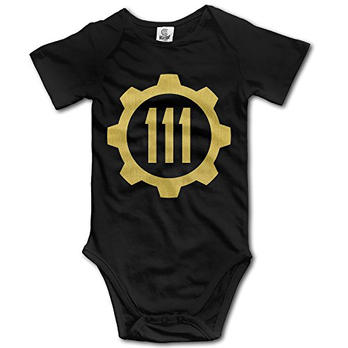 CYANY FALL OUT VAULT 111 Toddler Short-Sleeve Romper Bodysuit Size 12 Months Black