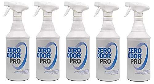 Zero Odor Pro - Commercial Strength Odor Eliminator - Neutralizer - Deodorizer - Smell Remover - Trigger Spray (32-Ounce) (Fivе Расk)
