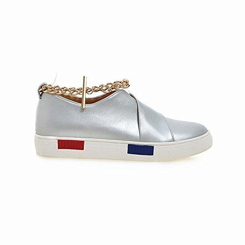 ... Latasa Femmes Chic Chaînes Cheville Sangle Skate Chaussures Plates  Chaussures Argent ... 4ac1e091070