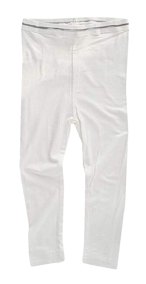Macondoo Little Girls Legging Summer Slim Fit Pure Color Pants Legging