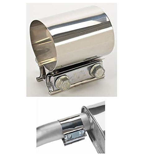 Heavy Duty Version V2 A Stainless Steel Exhaust Bracket Exhaust Clamp EXHAUST PIPE CONNECTOR 2.25