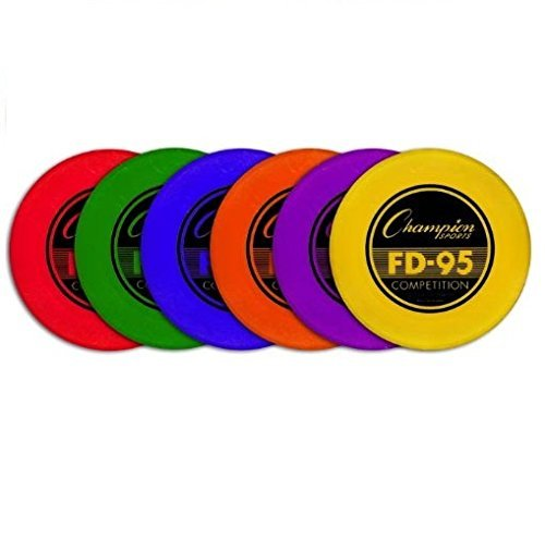 Champion Sports Plastic Flying Disc, 95 g, Assorted Colors