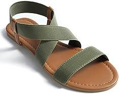 fb6c869c76ee1 Soles   Souls Women Flat Sandals Criss-Cross O..