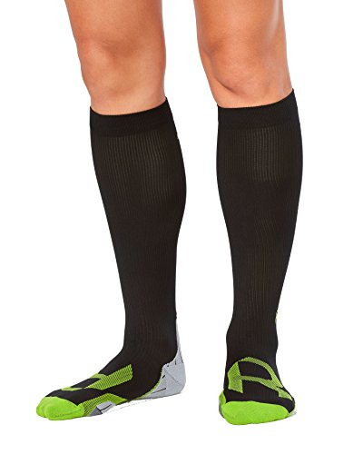 2XU Women's Compression Socks For Recovery, Black/Grey, - Hdo Returns Sport