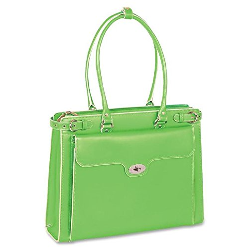 Ladies Briefcase Green (McKleinUSA WINNETKA 94831 Green Leather Ladies' Briefcase w/ Removable Sleeve)