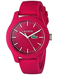 Lacoste Women's 12.12-Feet Quartz Resin and Silicone Automatic Watch, Color: Pink (Model: 2000957)