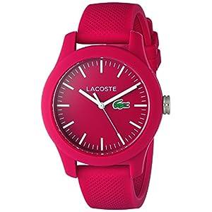 שעון יד מסיליקון לנשים של חברת LACOST הכולל כיסוי אחורי מפלדת אל-חלד