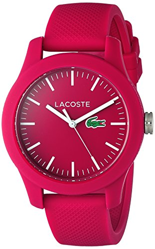 Lacoste Women's 'Ladies 12.12' Quartz Resin and Silicone Watch, Color:Pink (Model: 2000957)