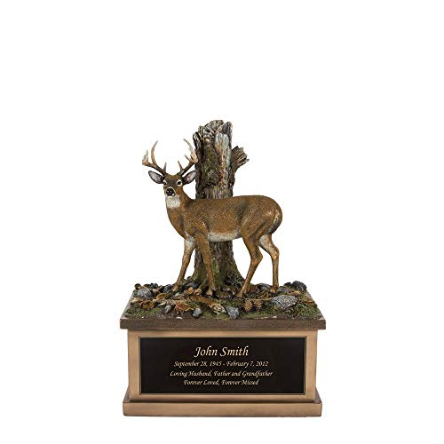 Perfect Memorials Custom Engraved Small Deer Cremation Urn