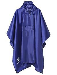 SaphiRose Men's Multifunctional Outdoor Rain Poncho Waterproof Raincoat Jacket