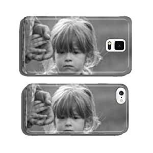 Little girl holding hand of her grandfather in nature cell phone cover case Samsung S6