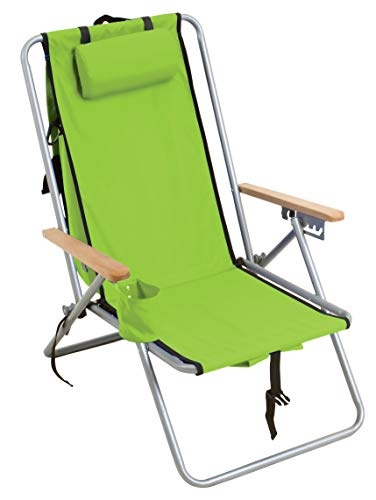 (Rio Gear Original Steel Backpack Chair - Lime Green )