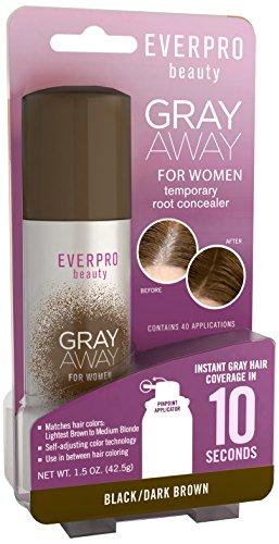 Gray Away Womens Hair Hilighter, Dark Brown, 1.5 Ounce