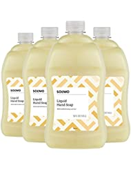 Amazon Brand - Solimo Liquid Hand Soap Refill, Milk and Honey, 56 Fluid Ounce (Pack of 4)