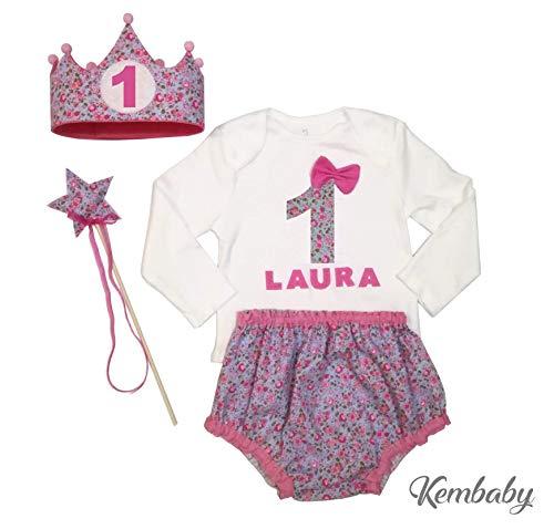 Conjunto primer cumpleaños 1 año para niña (body o camiseta ...