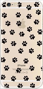 iPhone 6 Case, DECO FAIRY® Protective Case Bumper[Scratch-Resistant] [Perfect Fit] Ultra Slim Translucent Silicone Clear Case Gel Cover for Apple iPhone 6 (dog foot print (One Direction 5sos Iphone 6 Case)