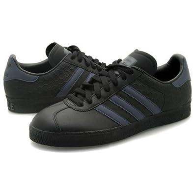 4a269462c61 Mens Adidas Gazelle II Black Leather Trainers UK 9.5  Amazon.co.uk  Shoes    Bags